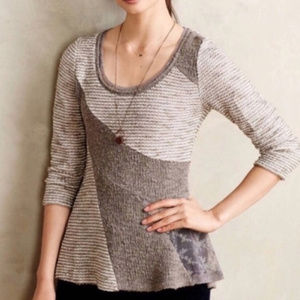 Angel of the North Leta Patchwork Hi Low Sweater S